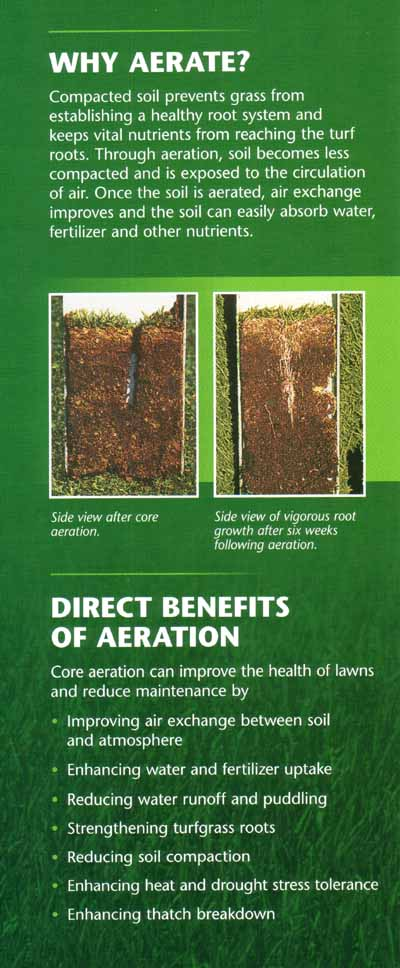 Aerating info