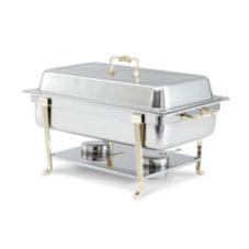 8 Quart Gold Trim Chafer